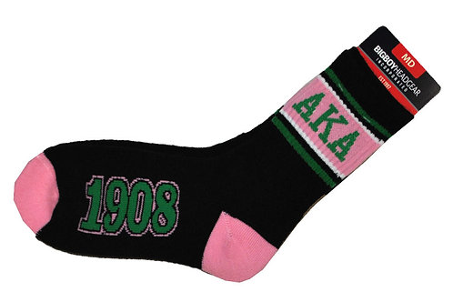 ALPHA KAPPA ALPHA SOCKS BLACK