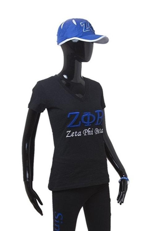 Zeta Phi Beta 3-D Embroidered Tee