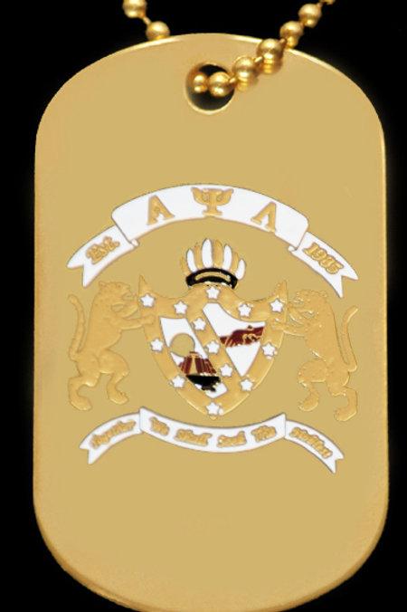 Alpha Psi Lambda Dog Tag w/chain