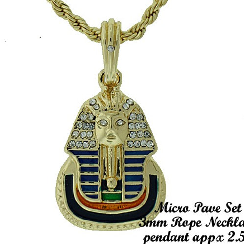 Alpha Phi Alpha Color Pharaoh Pendant Necklace