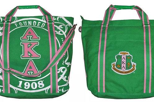 Alpha Kappa Alpha Canvas Bag GREEN