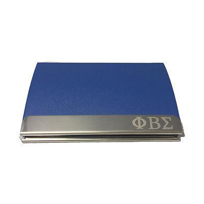 Phi beta sigma engraved business card holder the greek store phi beta sigma engraved business card holder reheart Gallery