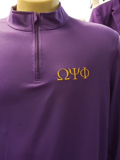 Omega Psi Phi Dri Fit 1/4 zip