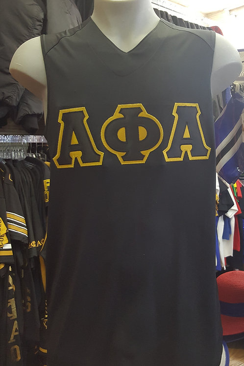 Alpha Phi Alpha Embroidered Letters Tank