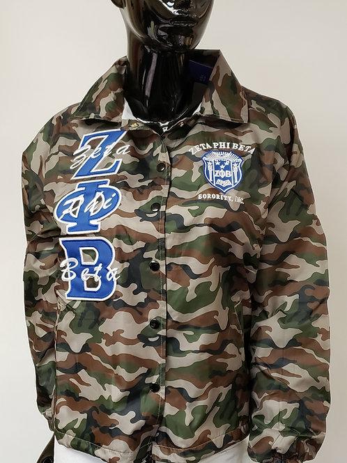 Zeta Phi Beta Camo Line Jacket
