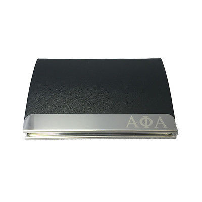 Alpha phi alpha engraved business card holder the greek store alpha phi alpha engraved business card holder reheart Image collections