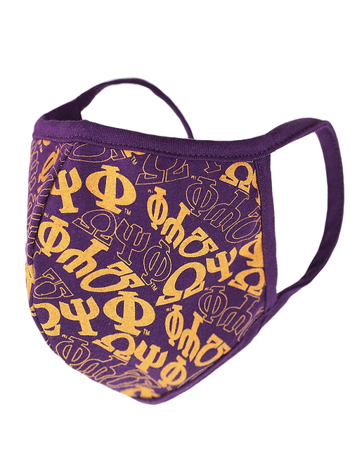 OPP PRINTED FACE MASK w/ FILTER POCKET