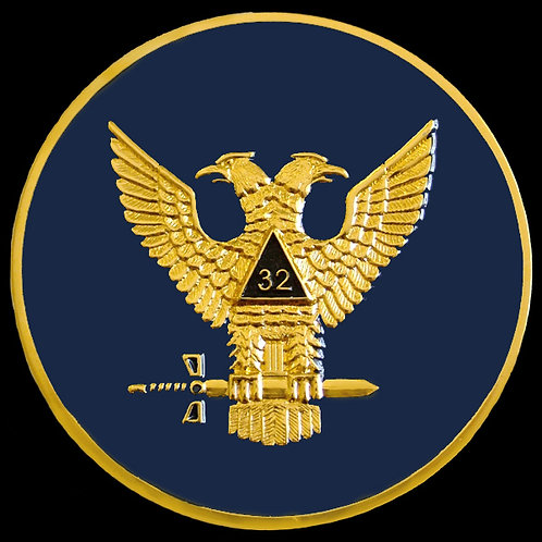 32nd Degree Wings Up Masonic Car Badge
