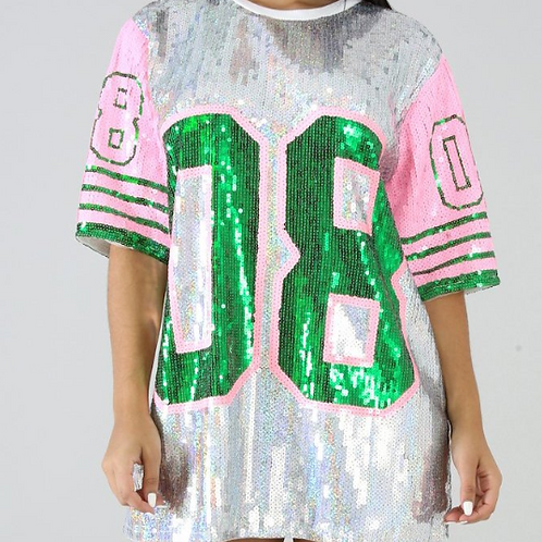 """08"" Sequin Tunic Top"