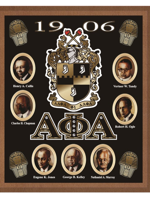 ALPHA PHI ALPHA ACRYLIC TOPPED WALL PLAQUE