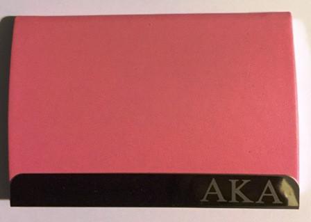 Alpha kappa alpha engraved business card holder the greek store alpha kappa alpha engraved business card holder reheart Gallery