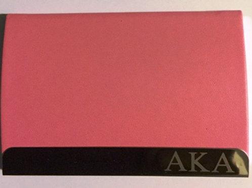 ALPHA KAPPA ALPHA  Engraved Business Card Holder
