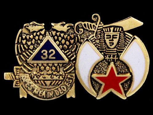 Consistory 32nd Degree/Shriner Lapel Pin