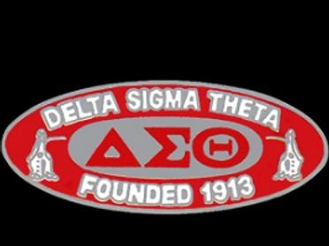 Delta Sigma Theta Oval Founders Pin W/Mascot Lapel Pin
