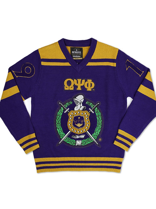 Omega Psi Phi PULLOVER V-NECK SWEATER