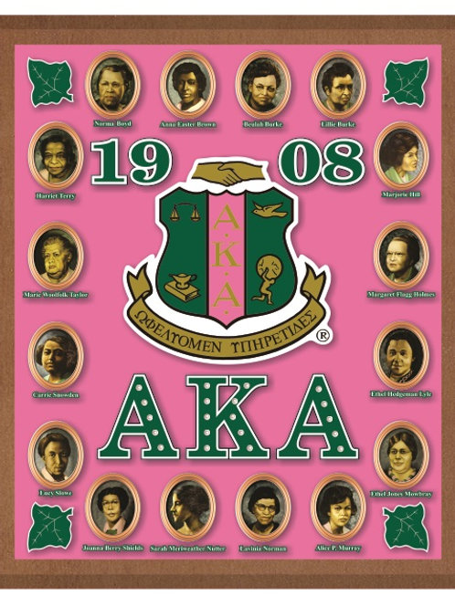 ALPHA KAPPA ALPHA ACRYLIC TOPPED WALL PLAQUE