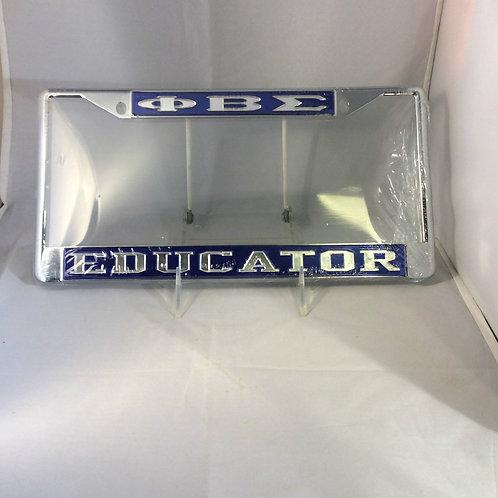 "PHI BETA SIGMA ""EDUCATOR"" PLATE FRAME"