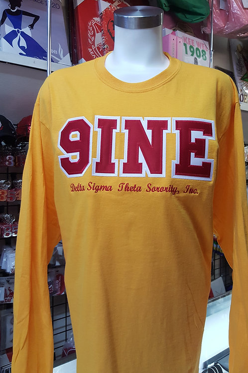 LINE NUMBER LONG SLEEVE T-SHIRT