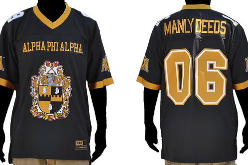 Alpha Phi Alpha Football Jersey MANLY DEEDS