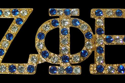 ZETA PHI BETA Austrian Crystal Pin