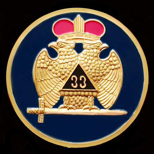 33rd Degree Masonic Car Badge