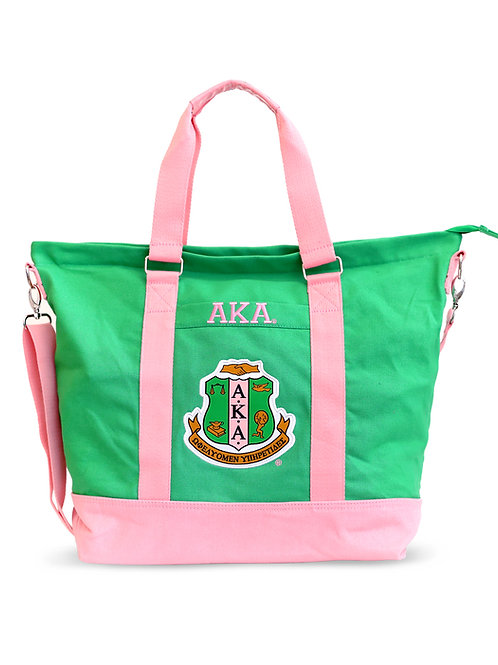 ALPHA KAPPA ALPHA GREEN CANVAS BAG