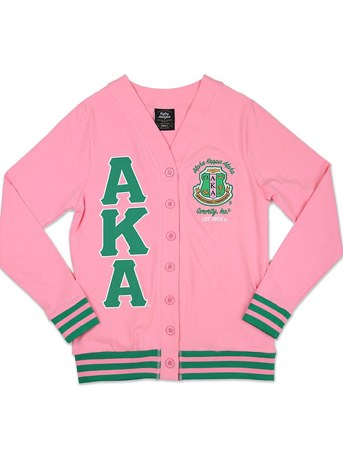 Alpha Kappa Alpha Light Weight Cardigan Pink