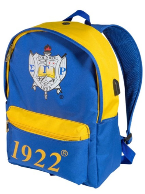Sigma Gamma Rho USB Port Backpack