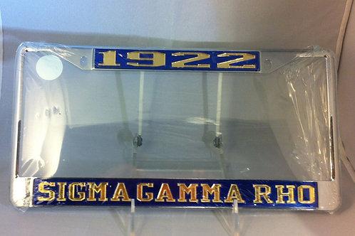 "SIGMA GAMMA RHO BLUE ""1922"" PLATE FRAME"