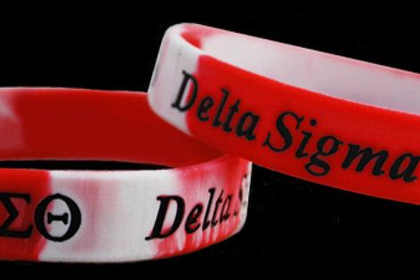 Delta Sigma Theta Camo 100% Silicone Bracelet