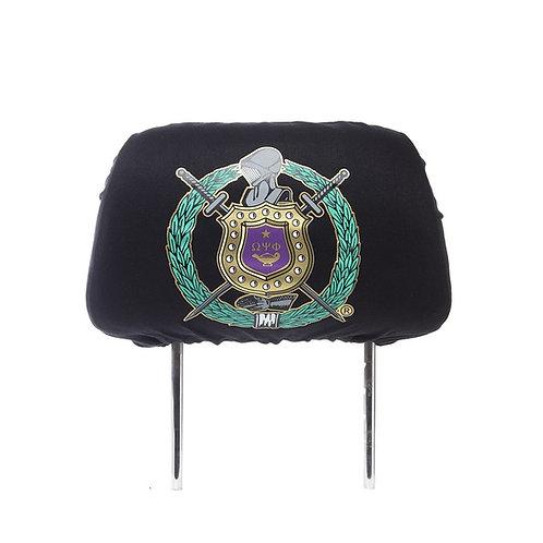 Omega Psi Phi Black SUV Headrest Cover