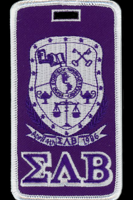 Sigma Lambda Beta Embroidered Luggage Tag
