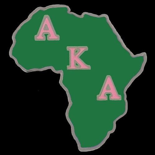 Alpha Kappa Alpha Africa Lapel Pins