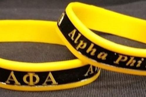 Alpha Phi Alpha Gold/Black Silicone Bracelet