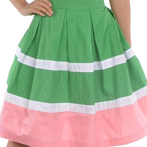 Alpha Kappa Alpha Pleated Skirt