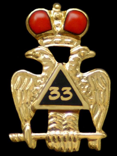 33rd Degree Wings Down Lapel Pin