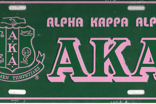 ALPHA KAPPA ALPHA METAL CAR TAG
