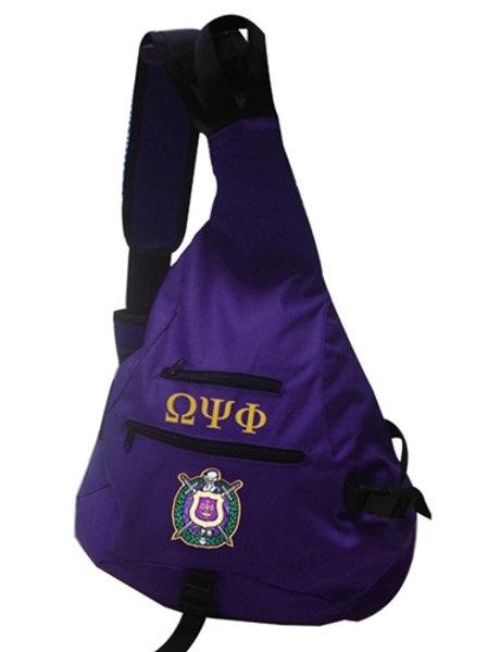 OMEGA PSI PHI FRATERNITY SLING BAG