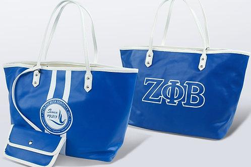 Zeta Phi Beta Leather Tote Bag