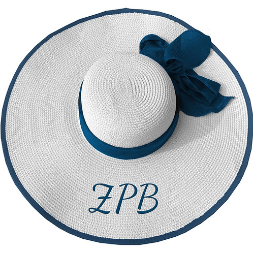 ZETA PHI BETA  FLOPPY HAT WHITE