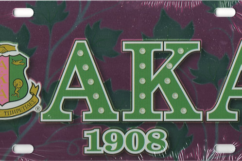 Alpha Kappa Alpha - Printed Crest License Plate