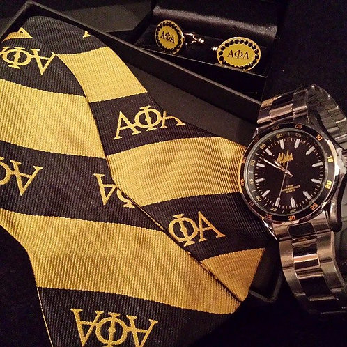 ALPHA PHI ALPHA BOWTIE & POCKET SQUARE