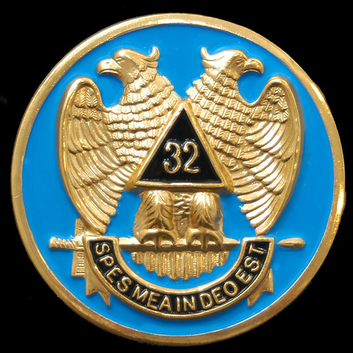 32nd Degree Masonic Car Badge