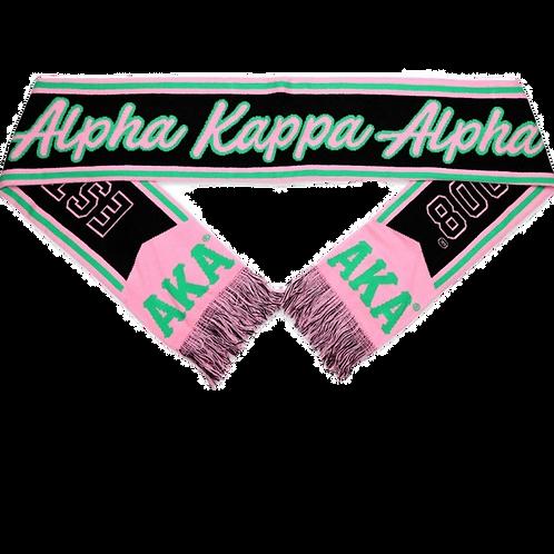 Alpha Kappa Alpha Scarf Black