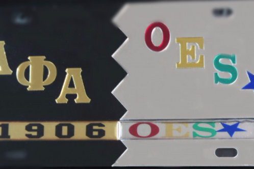 ALPHA PHI ALPHA / ORDER OF THE EASTERN STAR TAG