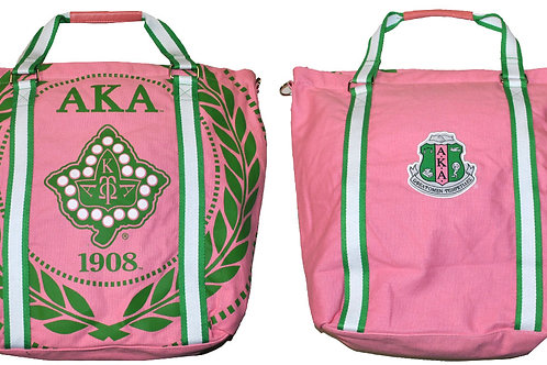 Alpha Kappa Alpha Canvas Bag PINK