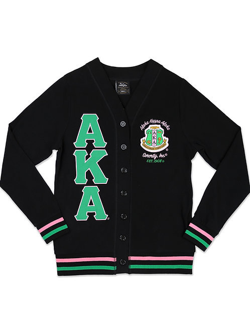 Alpha Kappa Alpha Light Weight Cardigan Black