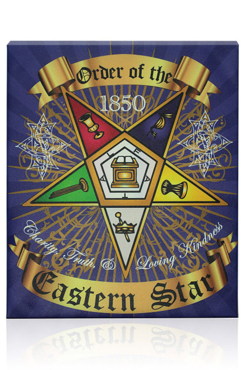 ORDER OF THE EASTERN STAR LARGE CANVAS PRINT