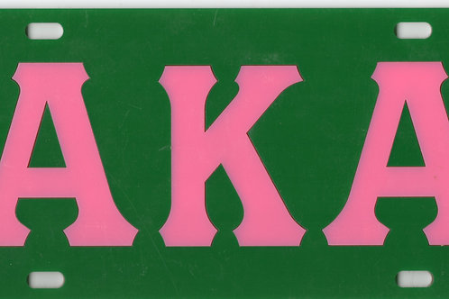 ALPHA KAPPA ALPHA ACRYLIC INLAID CAR TAG