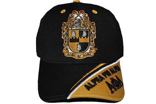 Alpha Phi Alpha Black Crest Cap